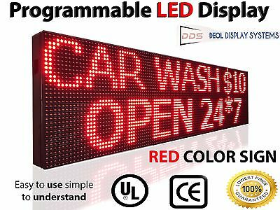 """20""""x125"""" Outdoor Led Signs Red Scrolling Electronic Business Message Boards Open"""