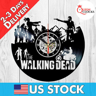 The Walking Dead Daryl Dixon Vinyl Record Wall Clock Art Home Decor Best Gifts