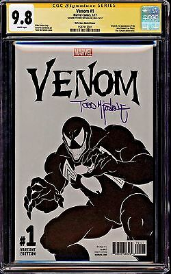 Venom #1 Mcfarlane Sketch Cover Cgc 9.8 Ss Signed By Todd Mcfarlane!!! Hot Book!