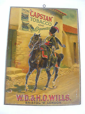 Beautiful Capstan Tobacco And Cigarettes Tin Sign Mint Condition