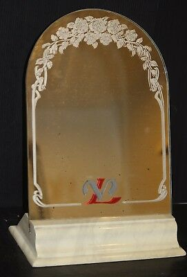 louis vuitton store display mirror advertising trade sign vintage authentic old!