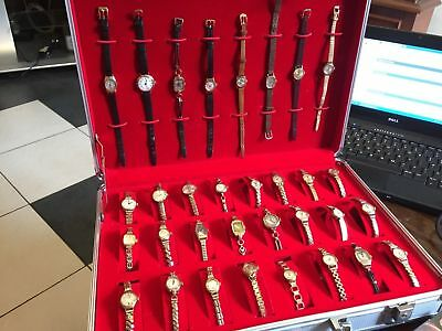 Lot Of 32 Vintage Pcs 9ct Solid Gold Watches Different Brands&presentation Case.