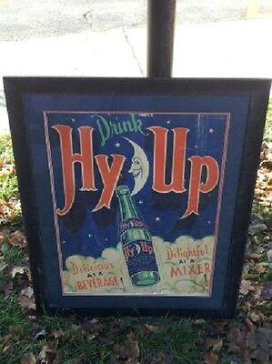Very Rare , Art Deco Hy Up  Cola Soda Sign, Not Coke, Pepsi, 7up  Just Cool!!!!