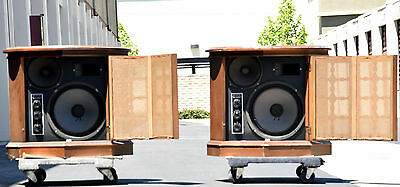 Pair Vintage Three Way Loudspeaker System Made In Usa Rare