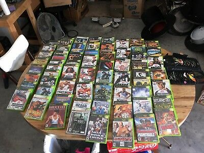 Huge Lot!!! 84 Vintage Original Xbox Video Games Free Shipping All One Money!