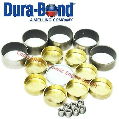 New Coated Cam Bearings & Brass Freeze Plugs 1967-1990 Chevy Bb 396 402 427 454