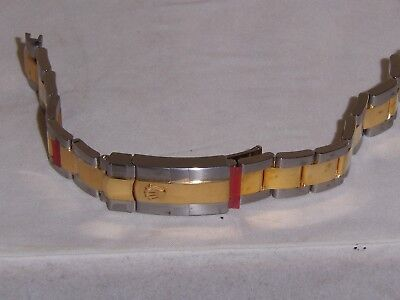 Rolex Solid 18k Gold & S.s. Ladies New Watch Band 16 M.m.w. Ends 61/2 L.