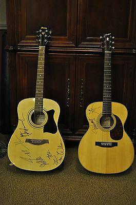 2 Acoustic Guitars Signed Autographed By Ted Nugent & The Fabulous Thunderbirds