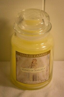 Yankee Candle ** Song Of Angels  22 Oz Never Burned Rare Lovely Scent  Free Ship