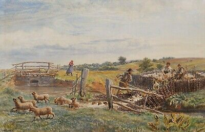 Henry Moore Ra Royal Academy Watercolor Drawing Herd Sheep British Landscape