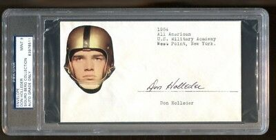 Don Holleder Signed Fdc Autographed Army West Point D:1967 Psa/dna *6511