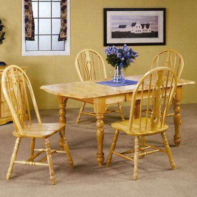 sunset trading 5 piece drop leaf extension dining set keyhole chairs,