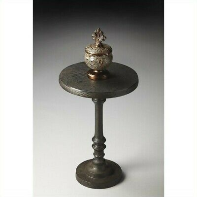 Butler Specialty Metalworks Pedestal Accent Table In Bronze