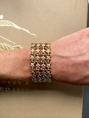 italian 18ct gold milanese mesh wide band vintage 1960 bracelet exquisite!!
