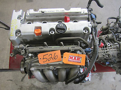 Fits 2.4l Engine Motor 05 06 07 08 Tsx Dohc 205 Hp Car Head Pan Block Runs Good