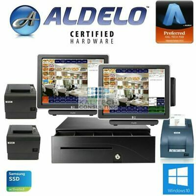 2 Station Aldelo Pro Fine Dinning Pos System 4gb/ssd Hd/free Support 3yr Warrant