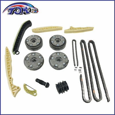 New 4pc Camshaft Adjuster Timing Chain Kit For Mercedes W203 W164 R171 R230 M272
