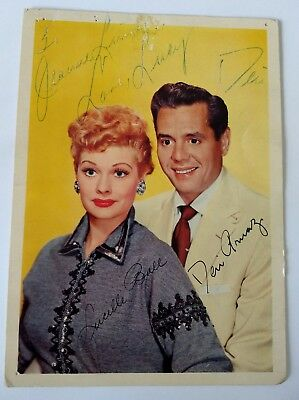 Lucille Ball & Desi Arnaz Hand Signed Autographs On Inscribed Photograph