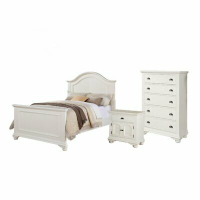 Picket House Furnishings Addison 3 Piece Full Bedroom Set In White