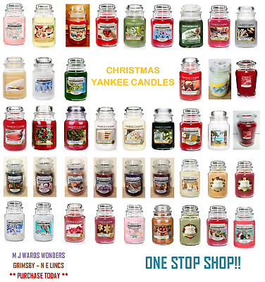 Yankee Candles - Christmas Scents - Medium/large Jar - Up To 150 Hour Burn Time