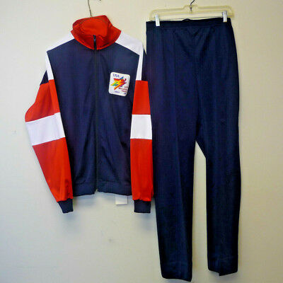 Vintage Zwickel 13th Annual Maccabiah Games 1989 Israel Track Suit Large