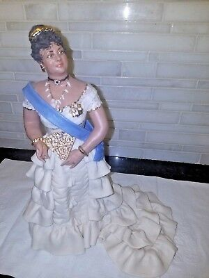 Very Rare Museum Quality Porcelain By Julene Mechler Queen Emma From Hawaii