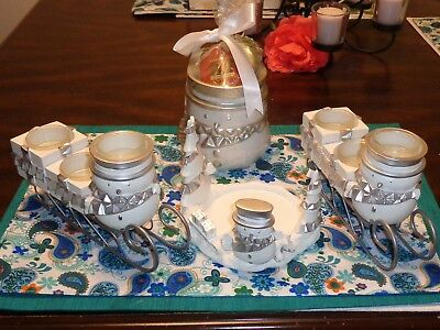 A Lot Of 4 Yankee Candle Jack Frost Snowman Christmas Tart Warmer Tealights Sled