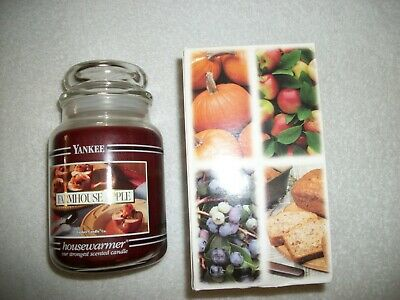 Yankee Candle Farmhouse Apple  Black Band Jar Candle 22 Oz New Rare Htf