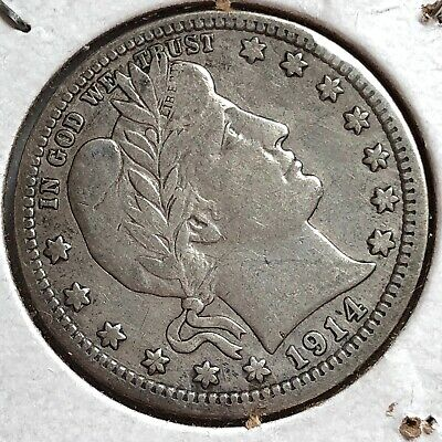 1914- Silver Barber Head Quarter- Please See 2019 West Point Pennies