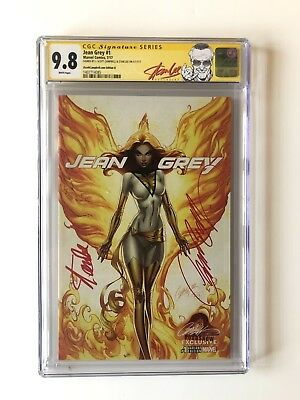 Jean Grey #1 Sdcc J. Scott Campbell Cover D Cgc Ss 9.8 2x Signed Stan Lee Htf