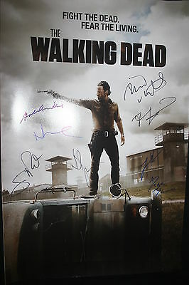 The Walking Dead Cast Signed 20x30 Photo Andrew Lincoln Robert Kirkman Dc/coa +8