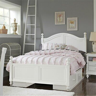 Ne Kids Lake House Payton Arch Full Double Storage Bed In White