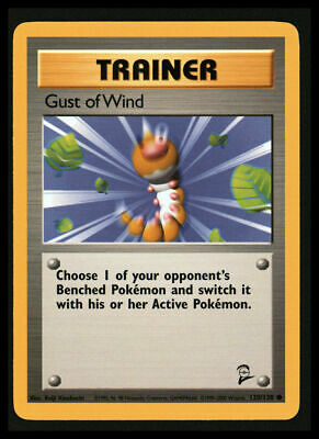 Pokemon Base Set 2 Trainer Gust of Wind 120/130 Common Near Mint COMBINED SHIP