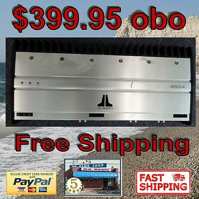 Jl Audio 450/4 Car Amp 4 Channel Amplifier Fast Free Usa Usps Priority Shipping