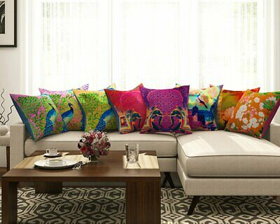 Abstract Pattern Pillow Case Waist Throw Cushion Cover For Living Room Set Of 8