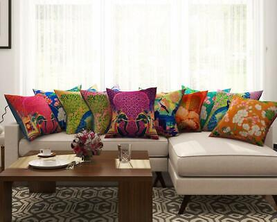 Set Of 10 Floral Pattern Cushion Cover Waist Throw Pillow Case Home Décor