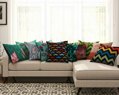 Multi-color Abstract Print Pillow Case Waist Throw Cushion Covers Set Of 10