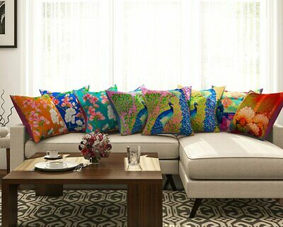 Abstract Print Cushion Covers Waist Throw Pillow Cover Home Décor Set Of 8
