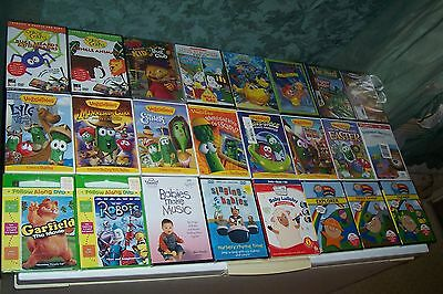 Lot Of Dvd,veggie Tales,tom Sawyer,christmas,educational,cat In The Hat,disney