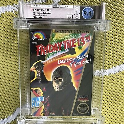 Nes Friday The 13th Wata 9.4 A+ Seal Brand New First Print Black Seal High Grade