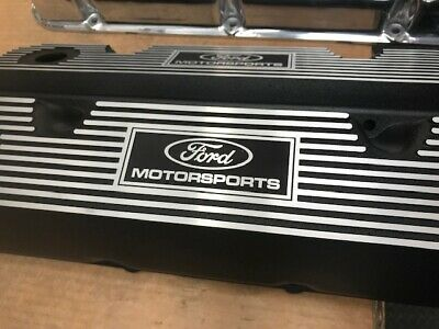 351 Cleveland Ford Motorsports Valve Covers With Black Powder Coat Finish