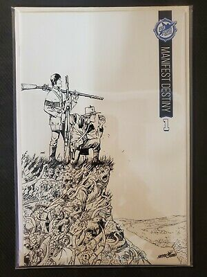 Manifest Destiny #1 5th Anniversary Sdcc Sketch Variant Nm Skybound Image Comics