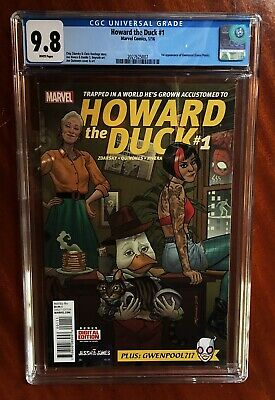 Gwenpool 1st Appearance Cgc 9.8 Howard The Duck #1 2016 Spider-man Rare Sold Out