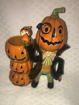 Rare Yankee Candle Boney Afterlife Halloween Tealight Holder Jumpin Jack Pumpkin