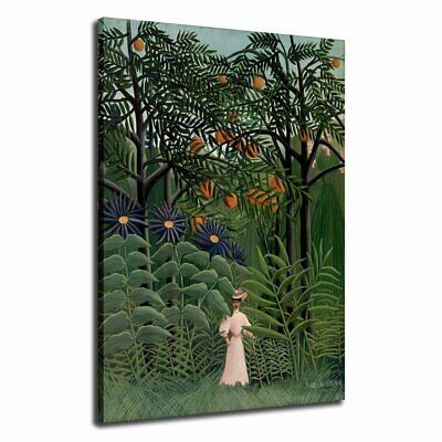 Henri Rousseau - Woman Walking In An Exotic Forest 1905 Poster Canvas Print 60