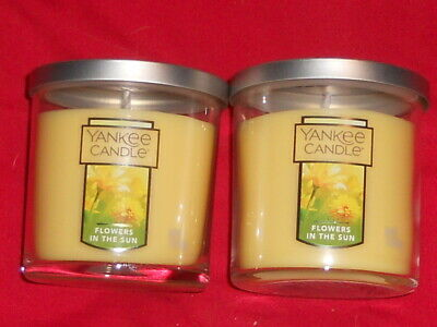 2 Yankee Candle 7oz. 1 Wick Small Tumbler Candles Flowers In The Sun