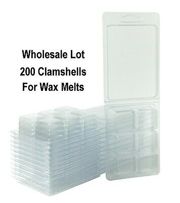 Wax Melt Molds Wholesale Lot, Wax Clamshell Containers, Wax Tart Molds