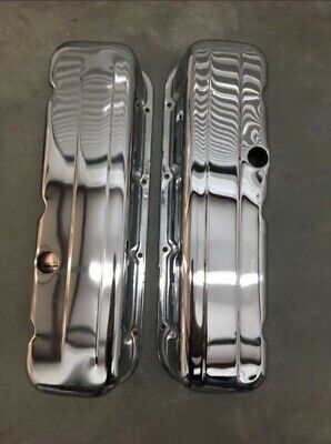Big Block Chevy Valve Covers Gen Iv, Tall, Steel With Chrome Finish.