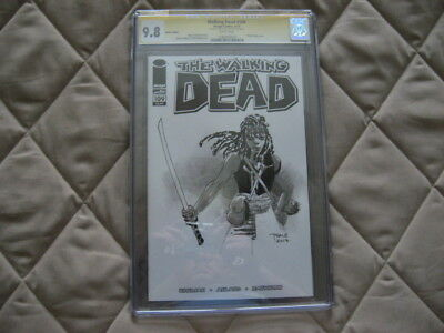 The Walking Dead 109 Tim Sale Original Art Sketch Cover Edition Cgc 9.8 Michonne