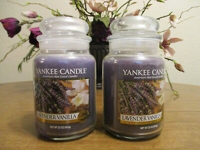 Yankee Candle Lavender Vanilla 22 Oz Jar Candles Lot Of 2